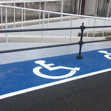 Is this the world's first inclusive cycle parking space?