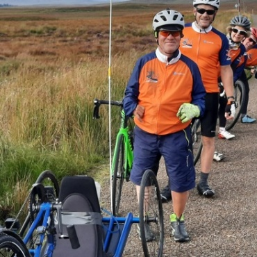 Andrew's 500-mile handcycling challenge